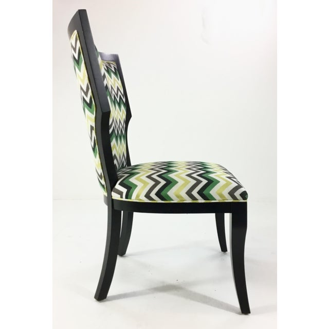 Currey & Company Currey and Co. Green Herringbone Garbo Side/Desk Chair For Sale - Image 4 of 6