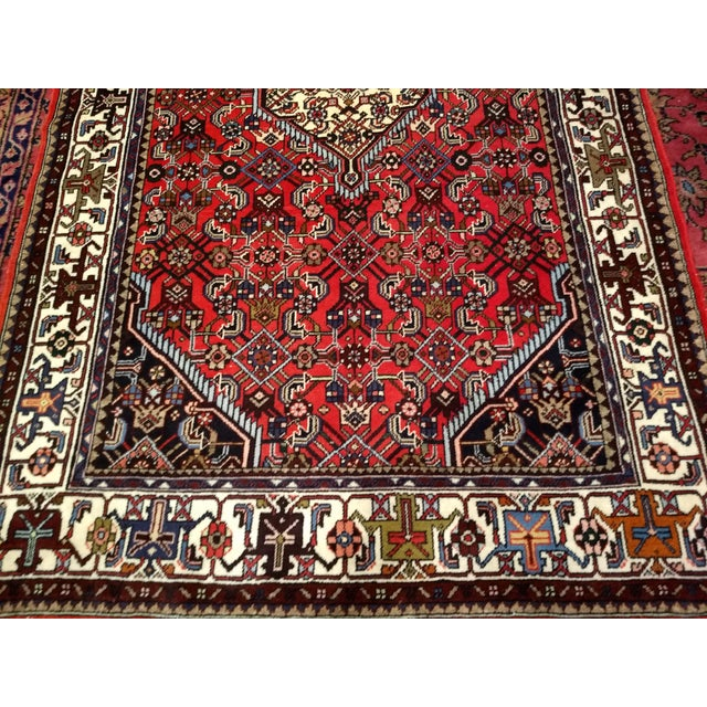 Persian 1950s Persian Handmade Village Carpet Rug 4′3″ × 6′11″ For Sale - Image 3 of 13