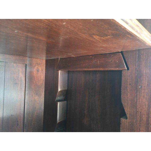 Rustic Solid Walnut Bookcase For Sale - Image 10 of 11