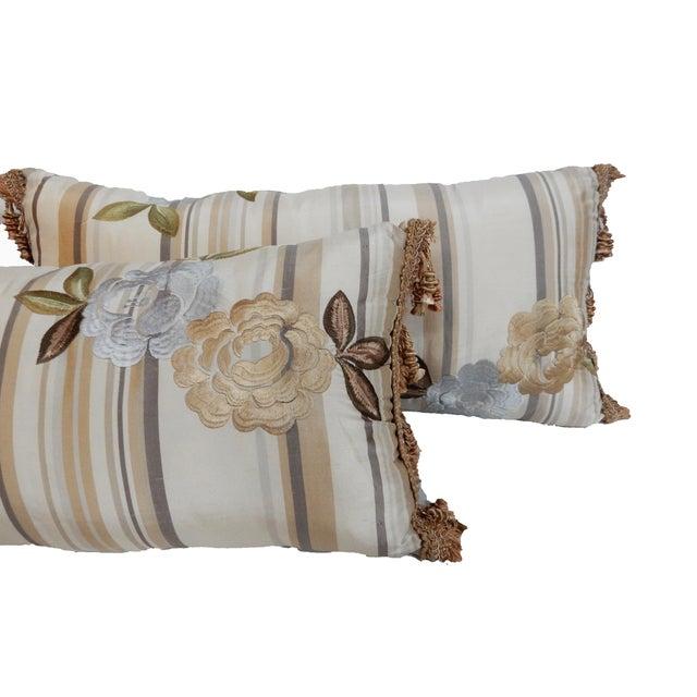 Custom Made Silk Lumbar Pillows - A Pair - Image 7 of 9