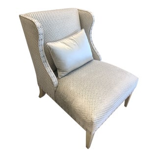 Gray Velvet Slipper Chair