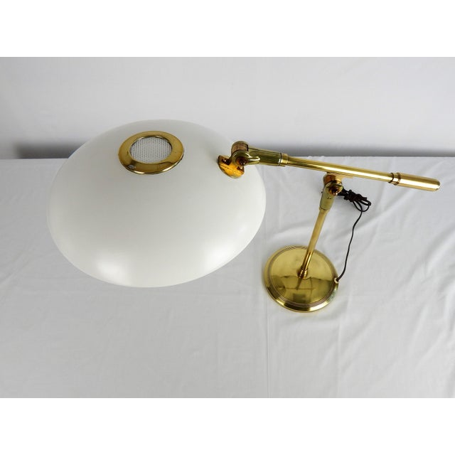 Mid 20th Century Mid-Century Saucer Desk Lamp on Brass Base For Sale - Image 5 of 9