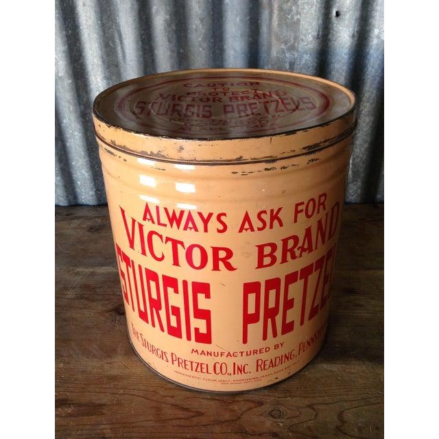 Vintage Eat Economy Pretzels Container - Image 2 of 6