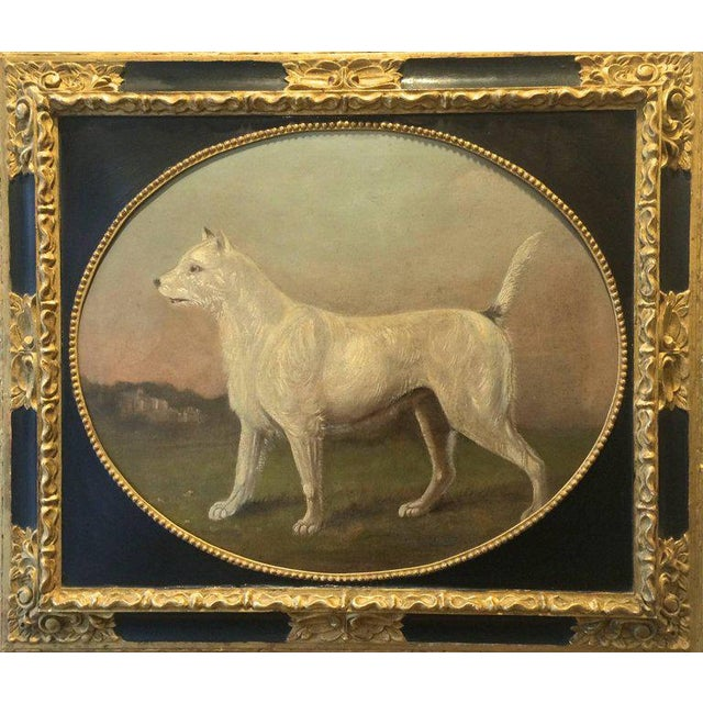 19th Century Antique Dog Portrait Painting For Sale In West Palm - Image 6 of 6