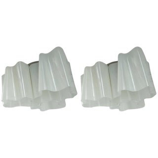 Artemide Logico Triple Nested Semi-Flush Mounts - A Pair For Sale