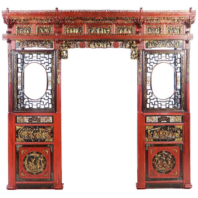 Chinese Opium Wedding Bed Intricately Carved Panel For Sale - Image 13 of 13