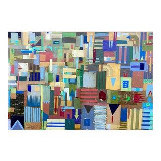 Cut Up Behr Paint Color Samples, Original Collage For Sale