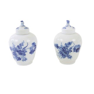 Small Royal Copenhagen Jars - A Pair For Sale