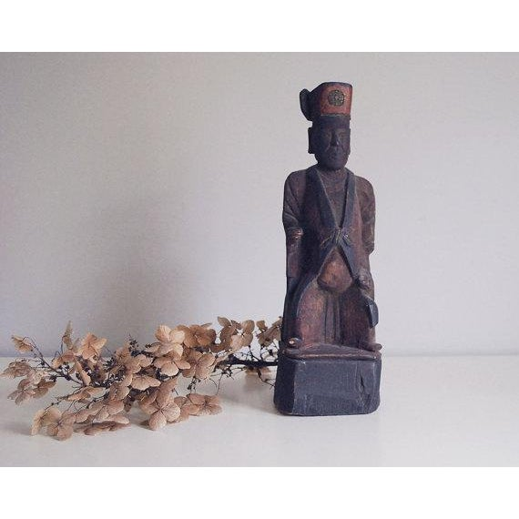 Primitive Chinese Wooden Folk Art Sculpture For Sale - Image 4 of 7
