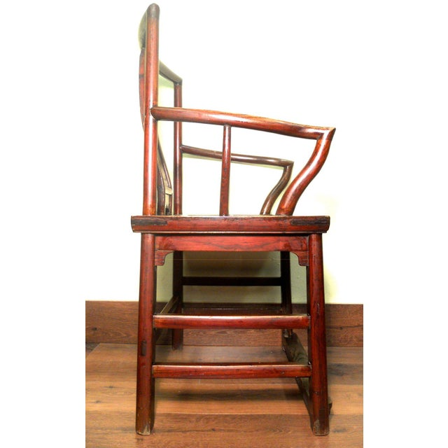 Antique Chinese Ming Arm Chair For Sale - Image 9 of 9
