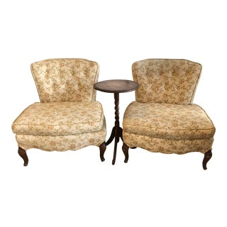 2 French Vintage Slipper Chairs