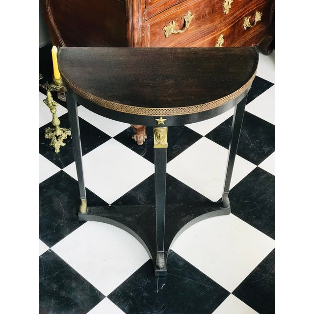 1920s French Empire Demi-Lune Table For Sale - Image 6 of 8