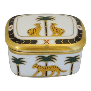 Christian Dior Casablanca Porcelain Box For Sale