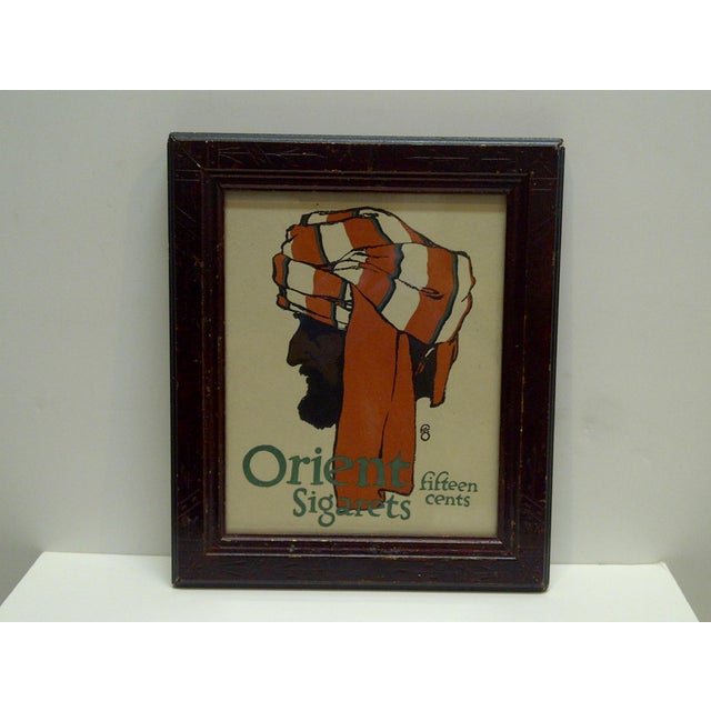 "This is a Vintage -- 1903 Journal Advertisement -- ""Orient Sigarets"" Fifteen Cents -- The Print Is Framed And Ready For..."