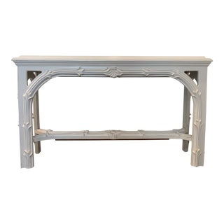 Mid Century Regency Serge Roche Console Table For Sale