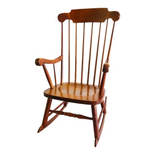 Vintage Cherry Timeless Rocking Chair for Farmhouse or Cottage For Sale