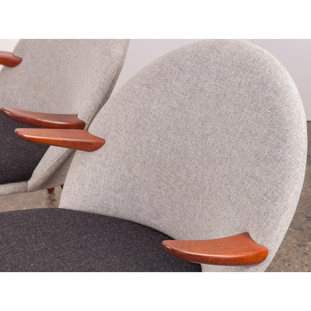 Gray Kurt Olsen Easy Chairs - a Pair For Sale - Image 8 of 11