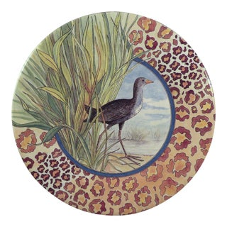 Vintage Gien France Savane Jungle Motif Plate