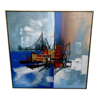 Framed Oil Painting by Toscani For Sale