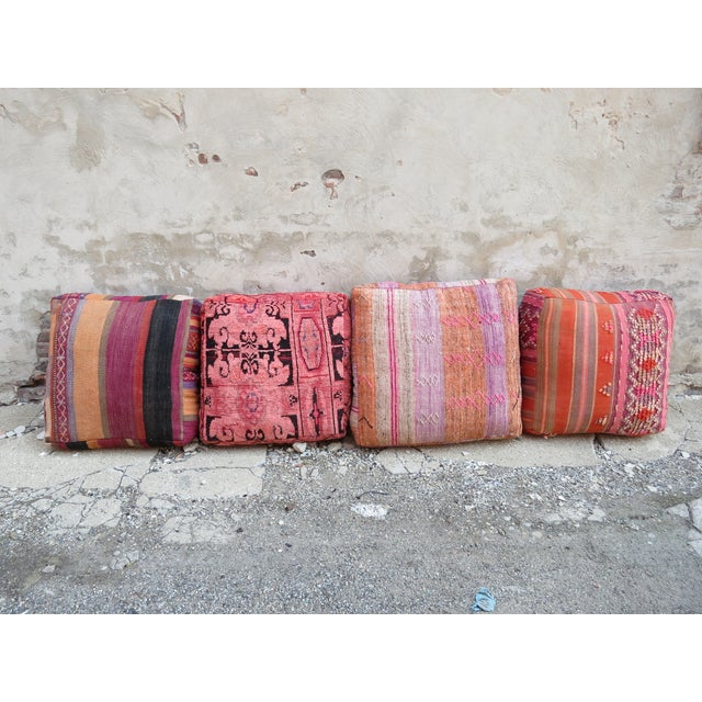 Vintage Moroccan Floor Pillow - Image 4 of 4