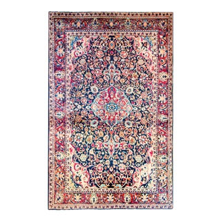 Early 20th Century Antique Kashan Rug For Sale