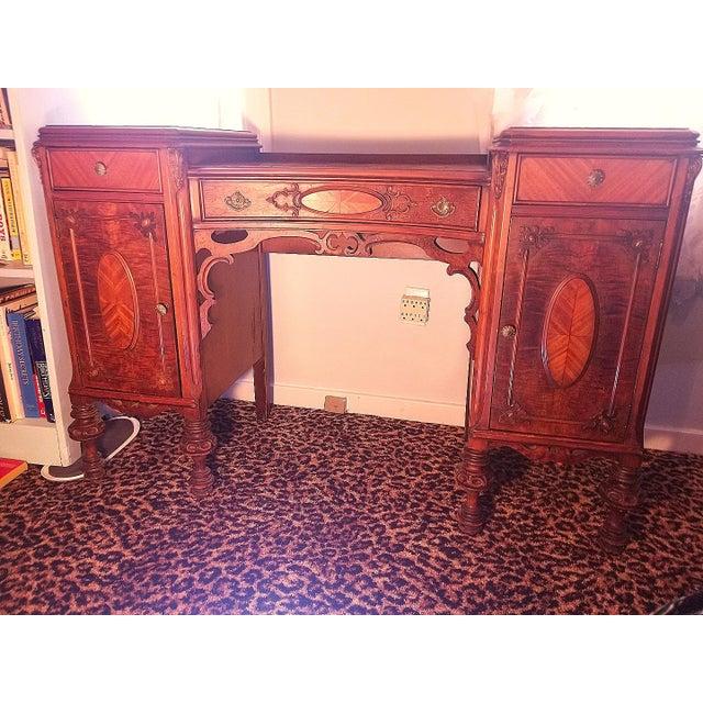 Williamsport Walnut Burl & Mahogany Vanity Table - Image 11 of 11