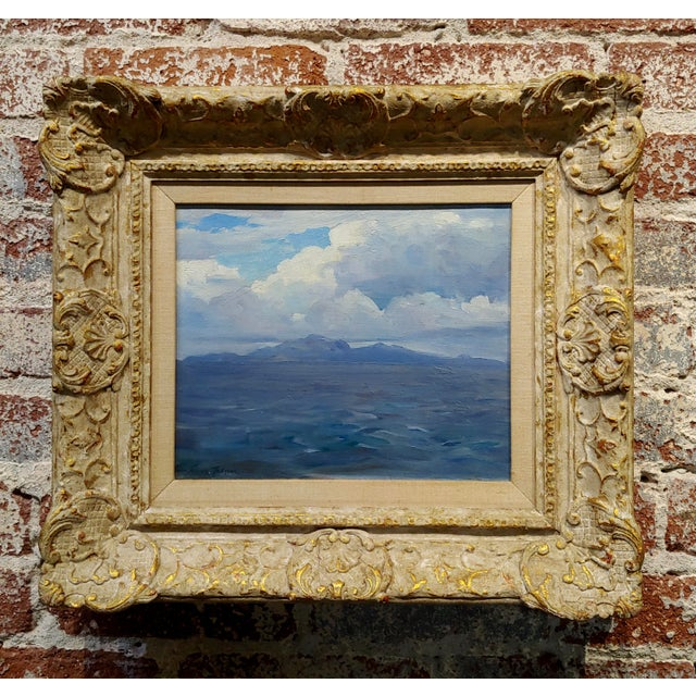 Frank Tenney Johnson -1920s View of the Salton Sea in the California Desert-Oil Painting For Sale - Image 9 of 9