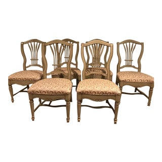 Drexel Heritage Wheat Back Accent Chairs - Set of 6