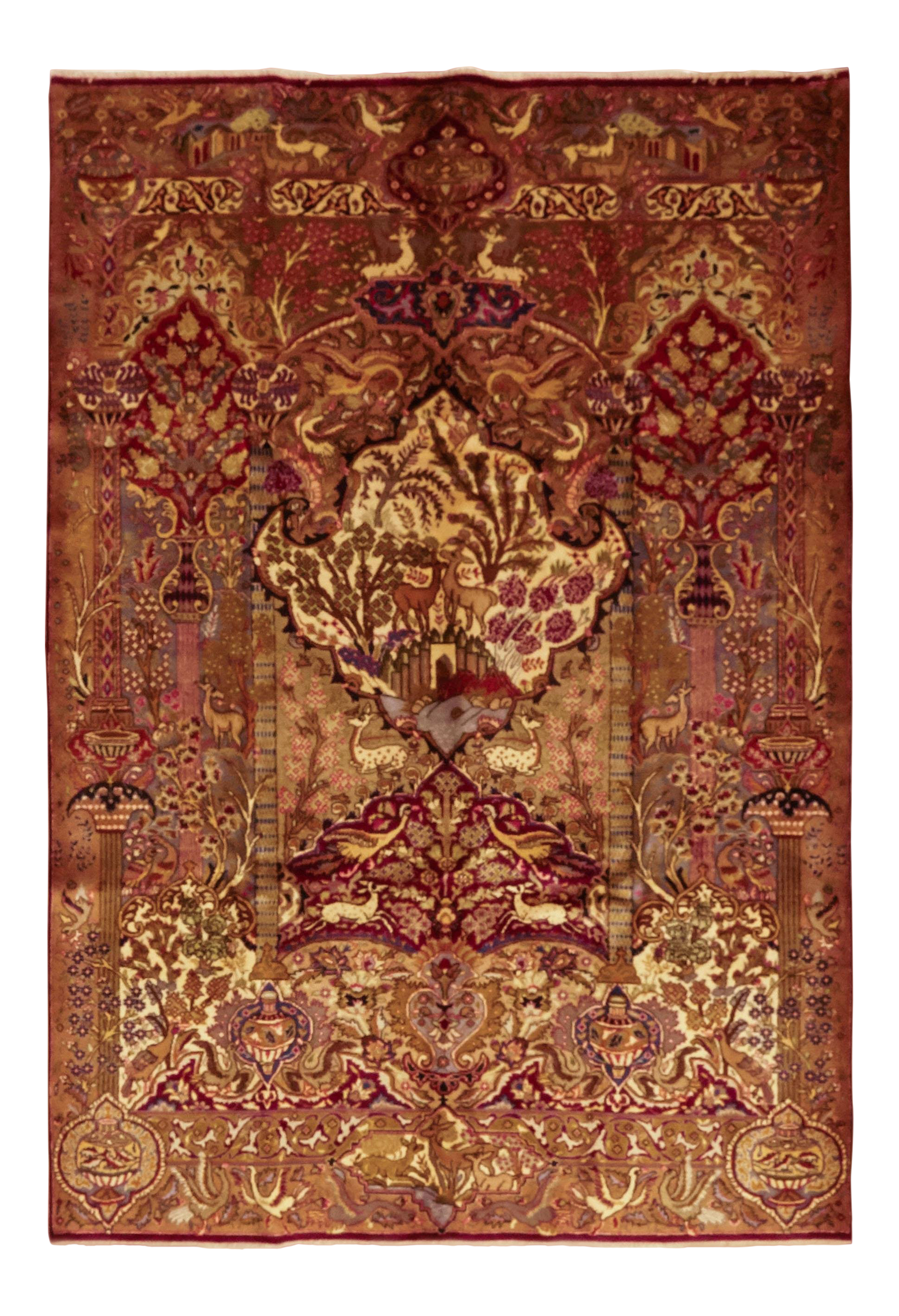 Kashmar Hand Knotted Area Rug 6 5 X 9 8 Chairish