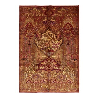"""Kashmar, Hand Knotted Persian Rug - 6' 5"""" X 9' 8"""" For Sale"""