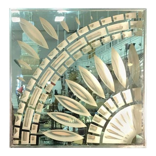 Greg Copeland Chrome & Glass Wall Mirror