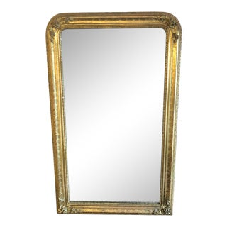 19th Cen French Louis Philippe Gilt Mirror For Sale