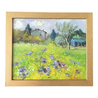 Tuscan Landscape Oil Painting For Sale