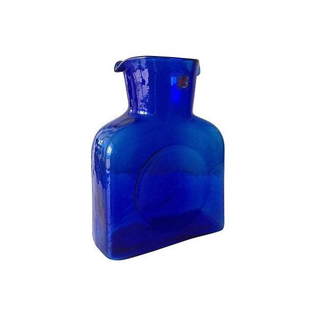 Blenko Cobalt Blue Carafe - Image 3 of 5