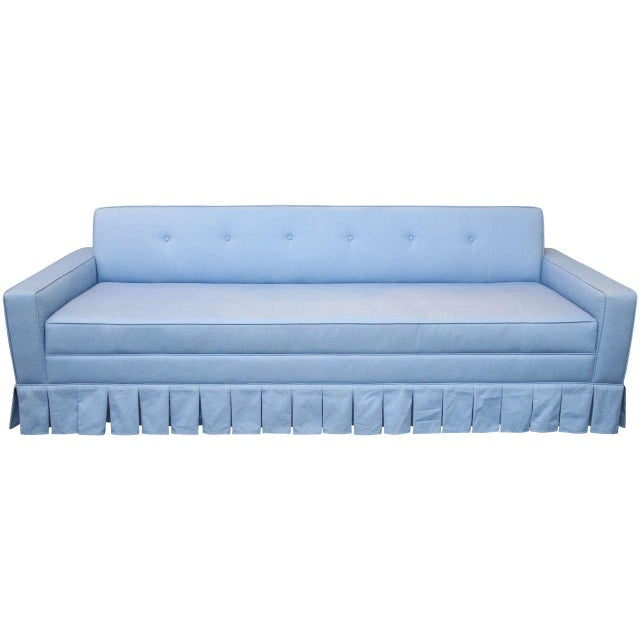 Tufted Sofa with Kick Pleat Skirt - Image 1 of 3