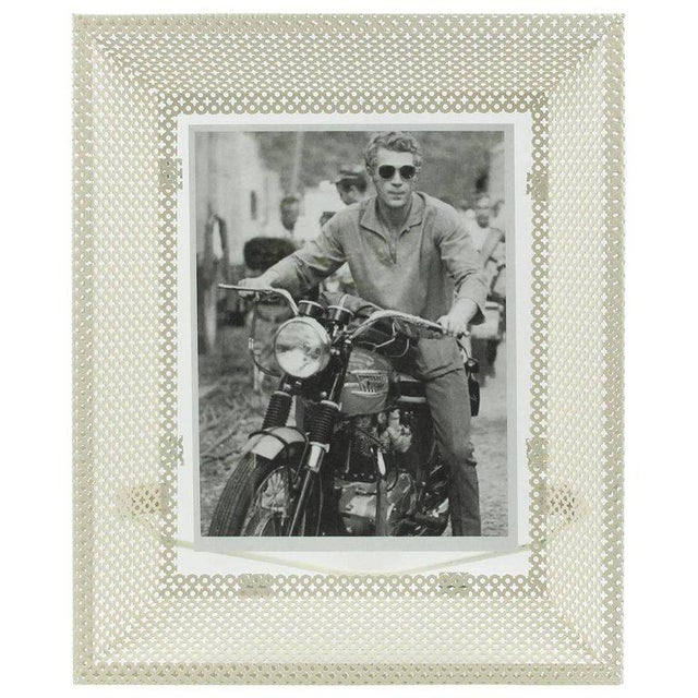Mathieu Mategot White Perforated Metal Picture Photo Frame For Sale In Atlanta - Image 6 of 6