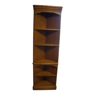 Hooker Furniture Solid Oak Corner Bookcase