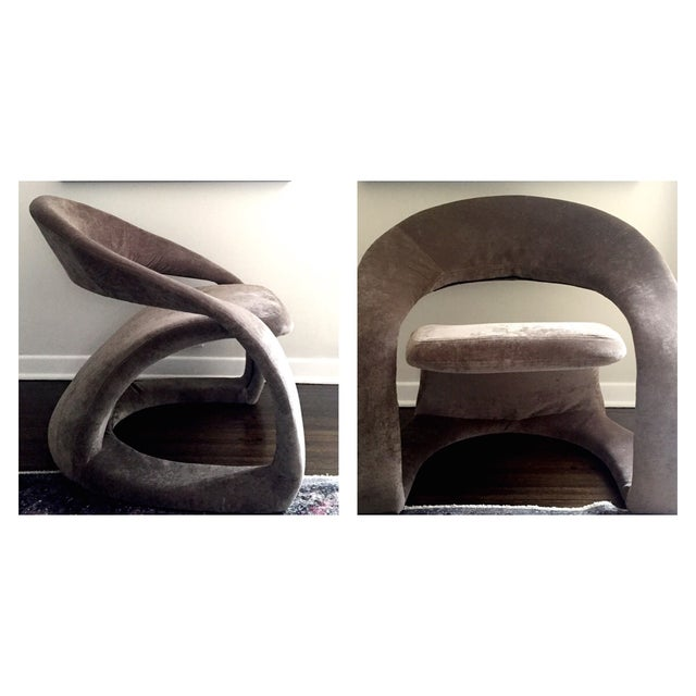 1970's Maison Rougier Lounge Chair - Image 3 of 4