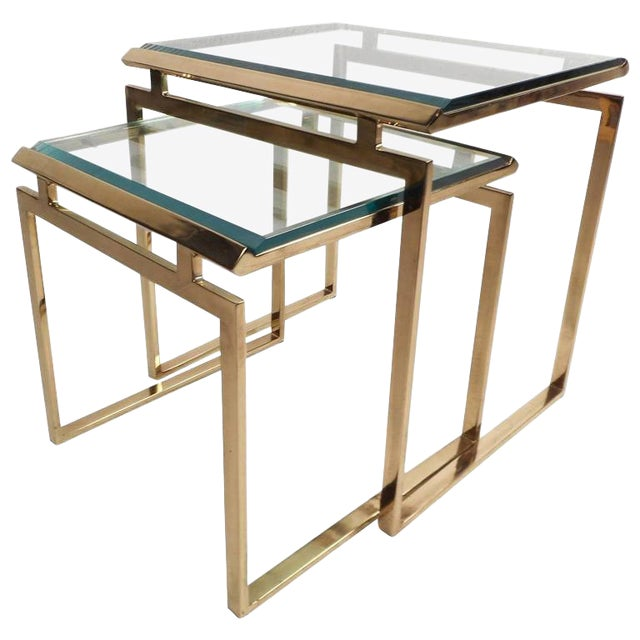 Mid-Century Modern Stacking Tables in the Style of Guy Lefevre - Image 1 of 9