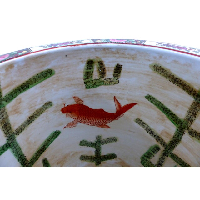 Vintage Asian Goldfish Bowl - Image 9 of 9