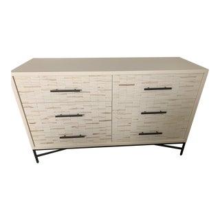 Mid-Century Modern West Elm White Dresser For Sale