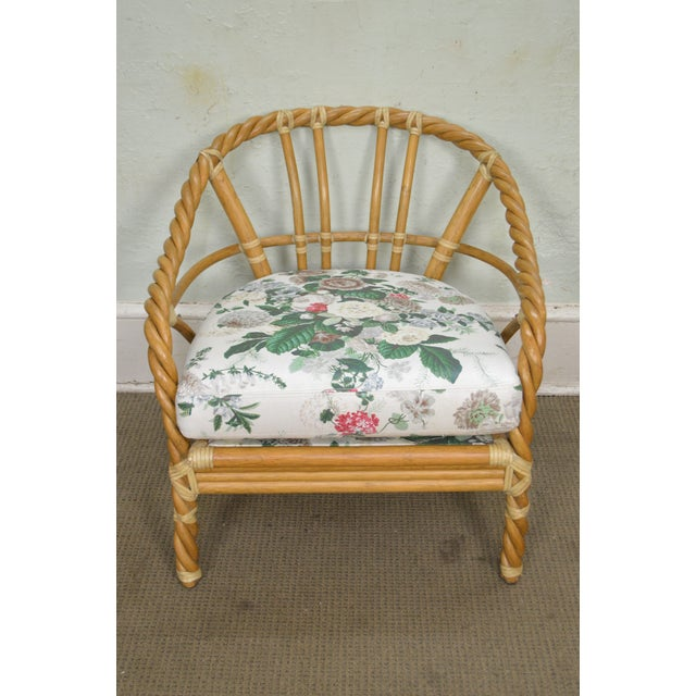 McGuire of San Francisco Twisted Rattan Lounge Chair For Sale - Image 12 of 13