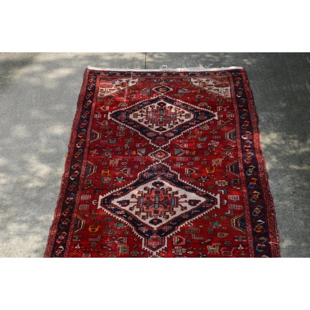 """Extra Large Persian Hand Woven Hamadan Runner - 16' X 4' 8"""" For Sale In Richmond - Image 6 of 12"""