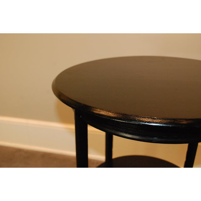 Black Round Side Table - Image 4 of 5