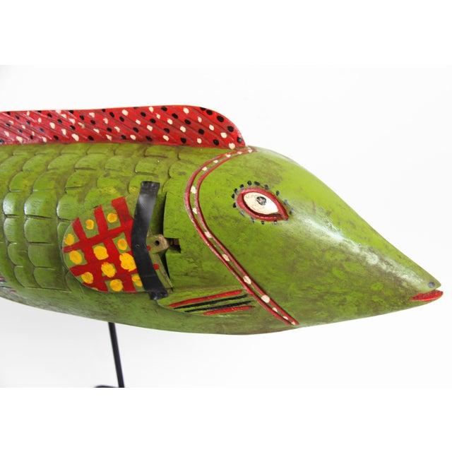 Bozo Mali Wood Fish - Image 2 of 2