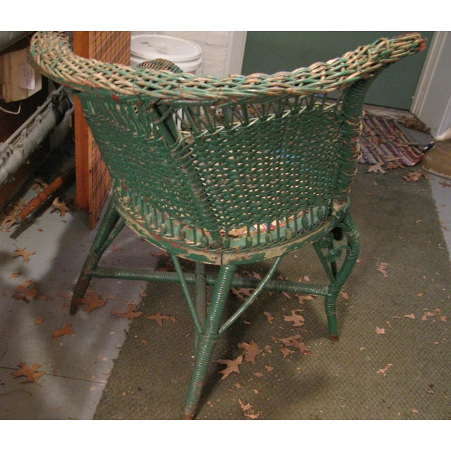 Art Deco Wicker Chair - Image 4 of 9