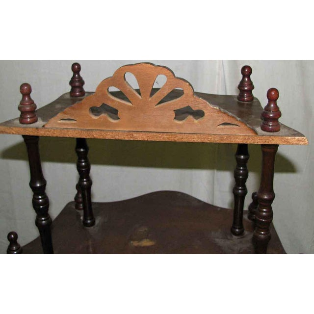 Dark Wooden 5 Tier Shelf - Image 8 of 10