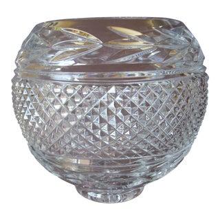 Vintage Large Diamond Cut Rose Bowl