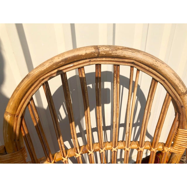 Bamboo Albini Style Bamboo Rattan Bistro Chairs- a Pair For Sale - Image 7 of 13