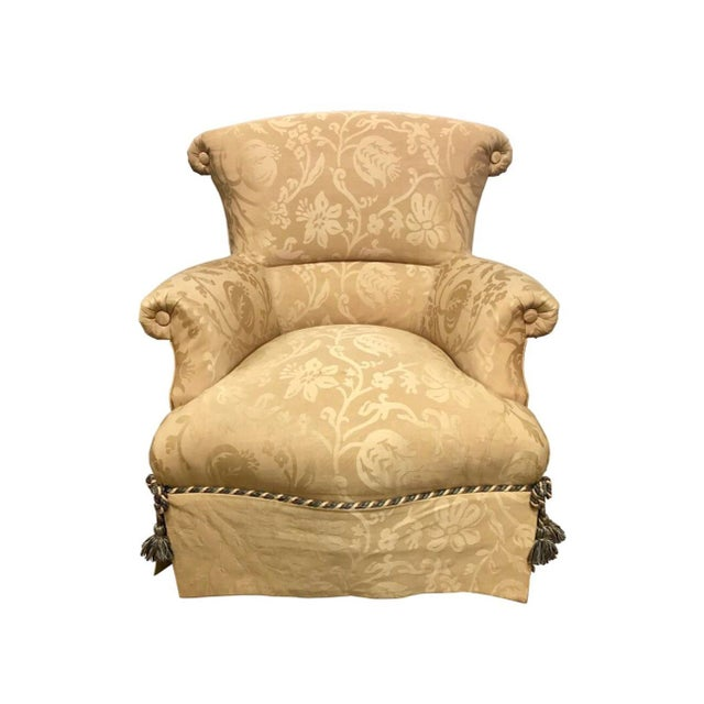 1970s Vintage Baker Furniture Wingback Ox Armchair For Sale - Image 11 of 11